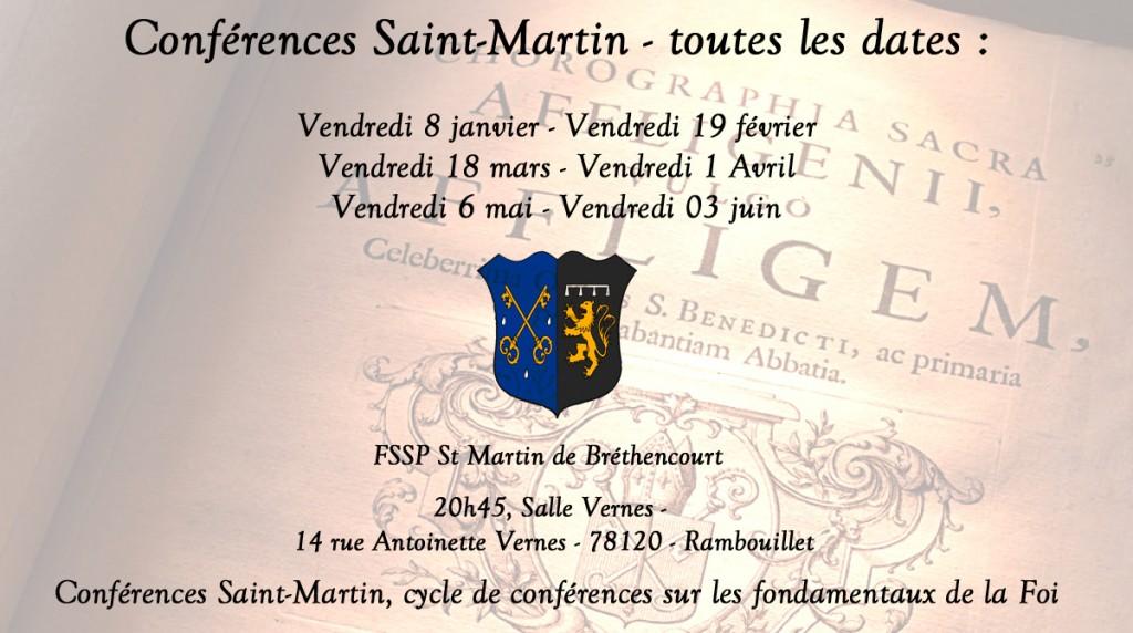 conférences St martin