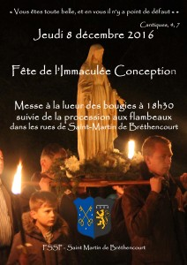 immaculée conception 2016