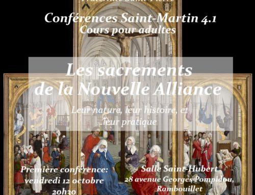 Conférence Saint-Martin 4.1 Le Baptême, porte du Ciel