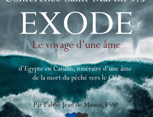 Conférence Saint-Martin 3.5 : l'Exode